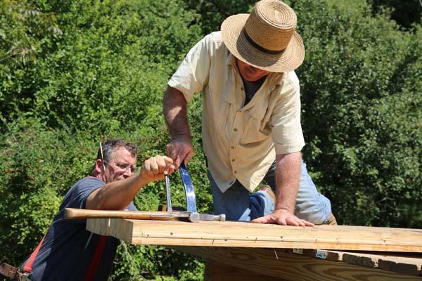 Building wild cabins behind the scenes